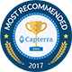 "Capterra ""Most Recommended' Badge"