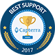 Capterra customer support badge