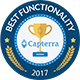 Capterra functionality badge