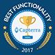 Capterra functionality badge